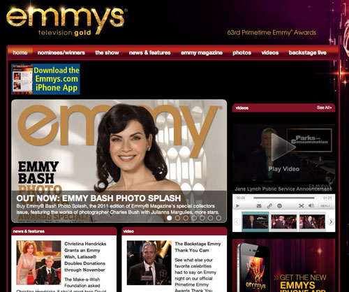 The Emmy's website
