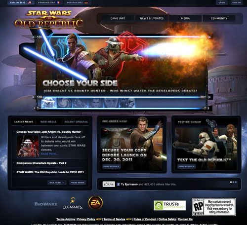 Star Wars website