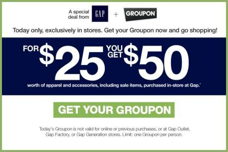 The Gap's Groupon offer