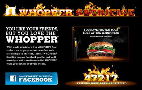 BurgerKing's Whopper Sacrifice